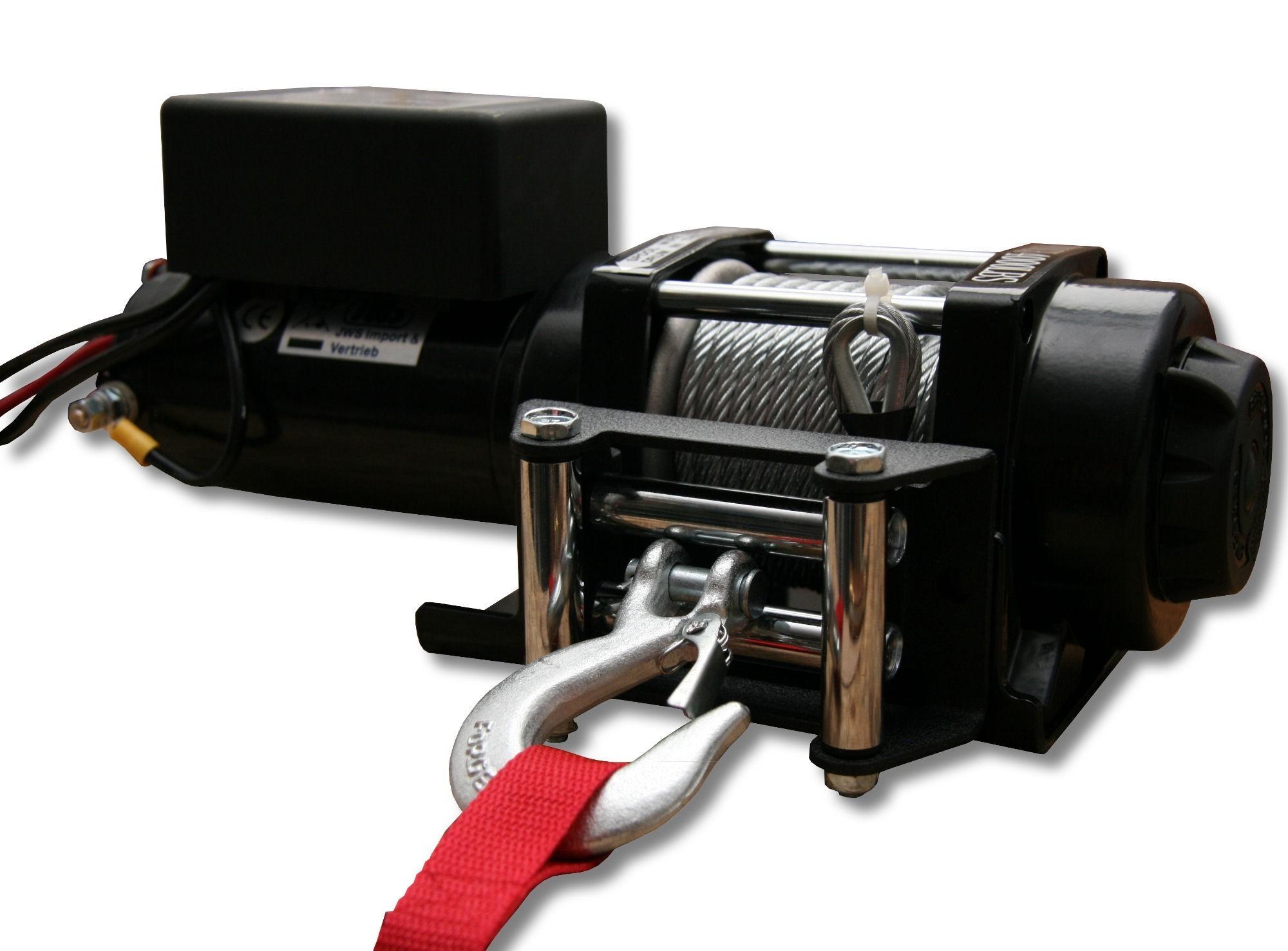 Elettrico atv quad verricello perni 12v 4000lbs quadwinde for Argano elettrico 220v con telecomando