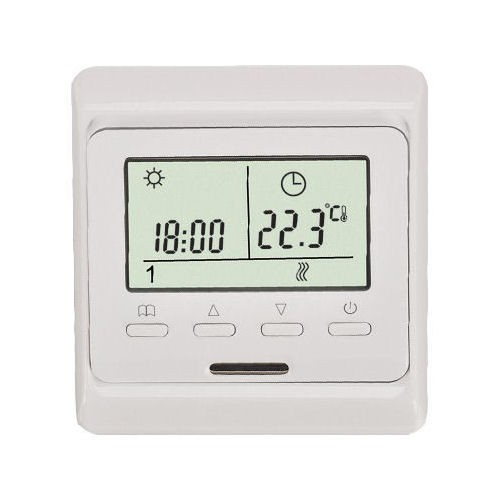 digital raumthermostat fu bodenheizung raumthermostate. Black Bedroom Furniture Sets. Home Design Ideas