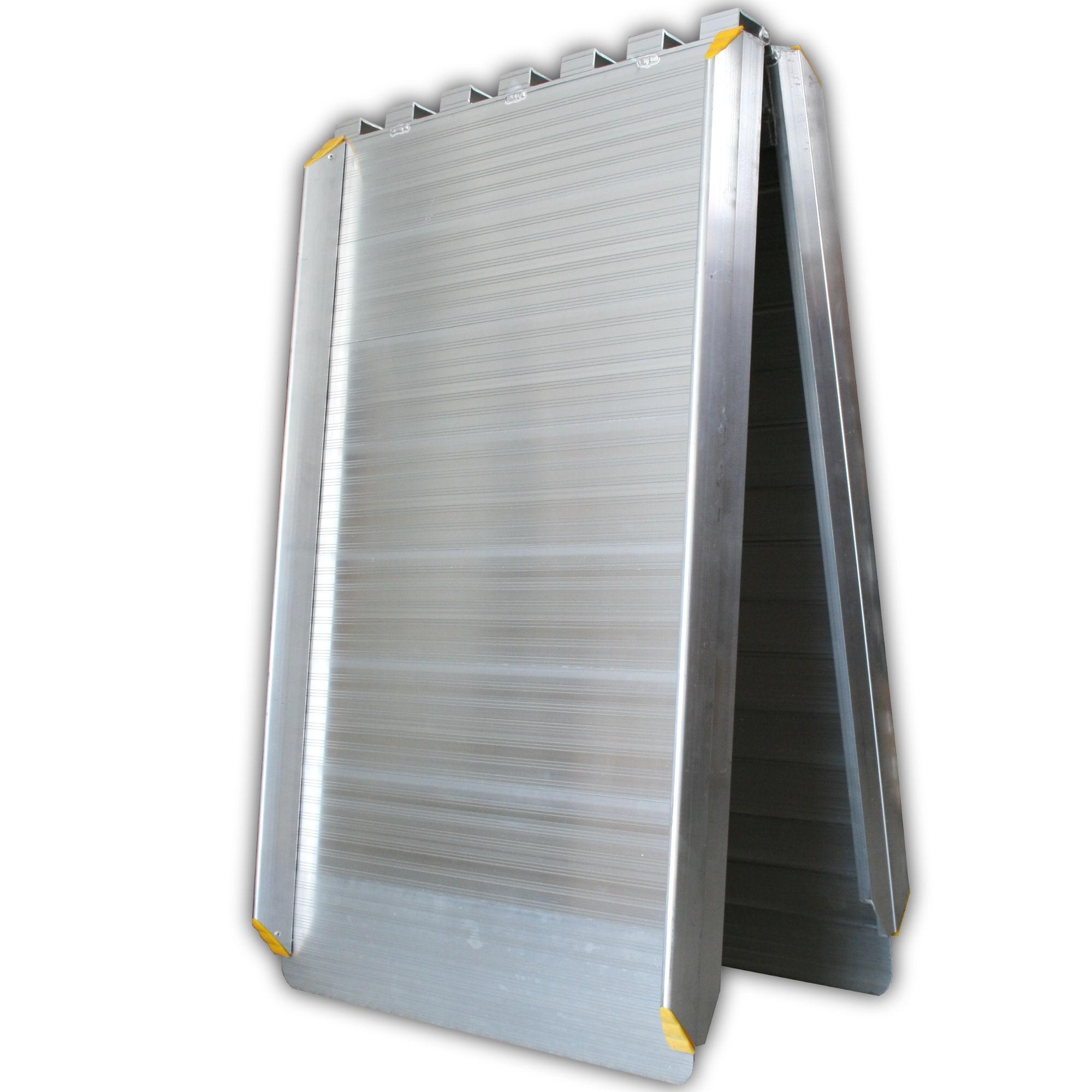 klapprampe aluminium rampe klappbar rollstuhlrampe 244cm mobil alu verladerampe rampen klappbare. Black Bedroom Furniture Sets. Home Design Ideas