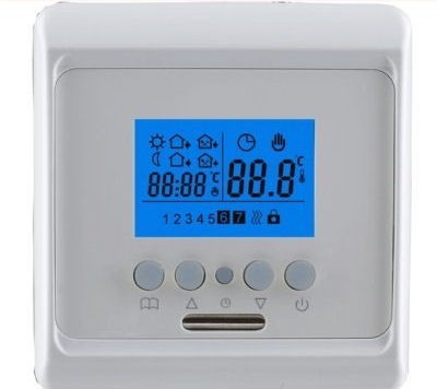 digitaler raumthermostat fu bodenheizung raumthermostate. Black Bedroom Furniture Sets. Home Design Ideas